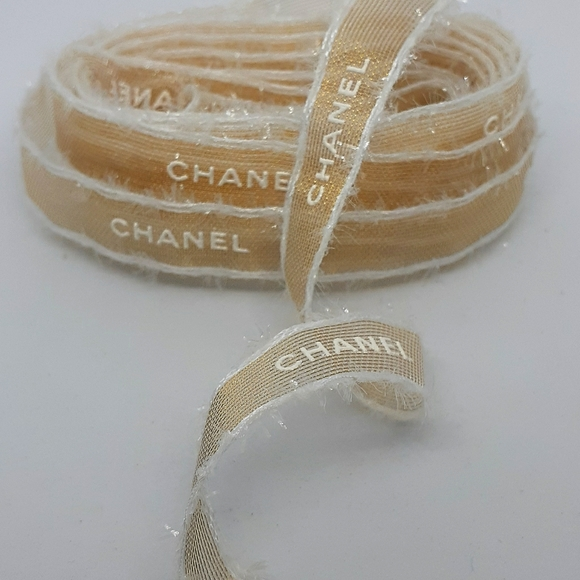 Chanel Accessories Gold White Tweed Ribbon 120 Inches Poshmark If you need to be super precise, you can use one meter = 3.2808398950131 feet. poshmark